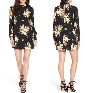Anthropologie Leith Mock Neck Floral Sheath Dress